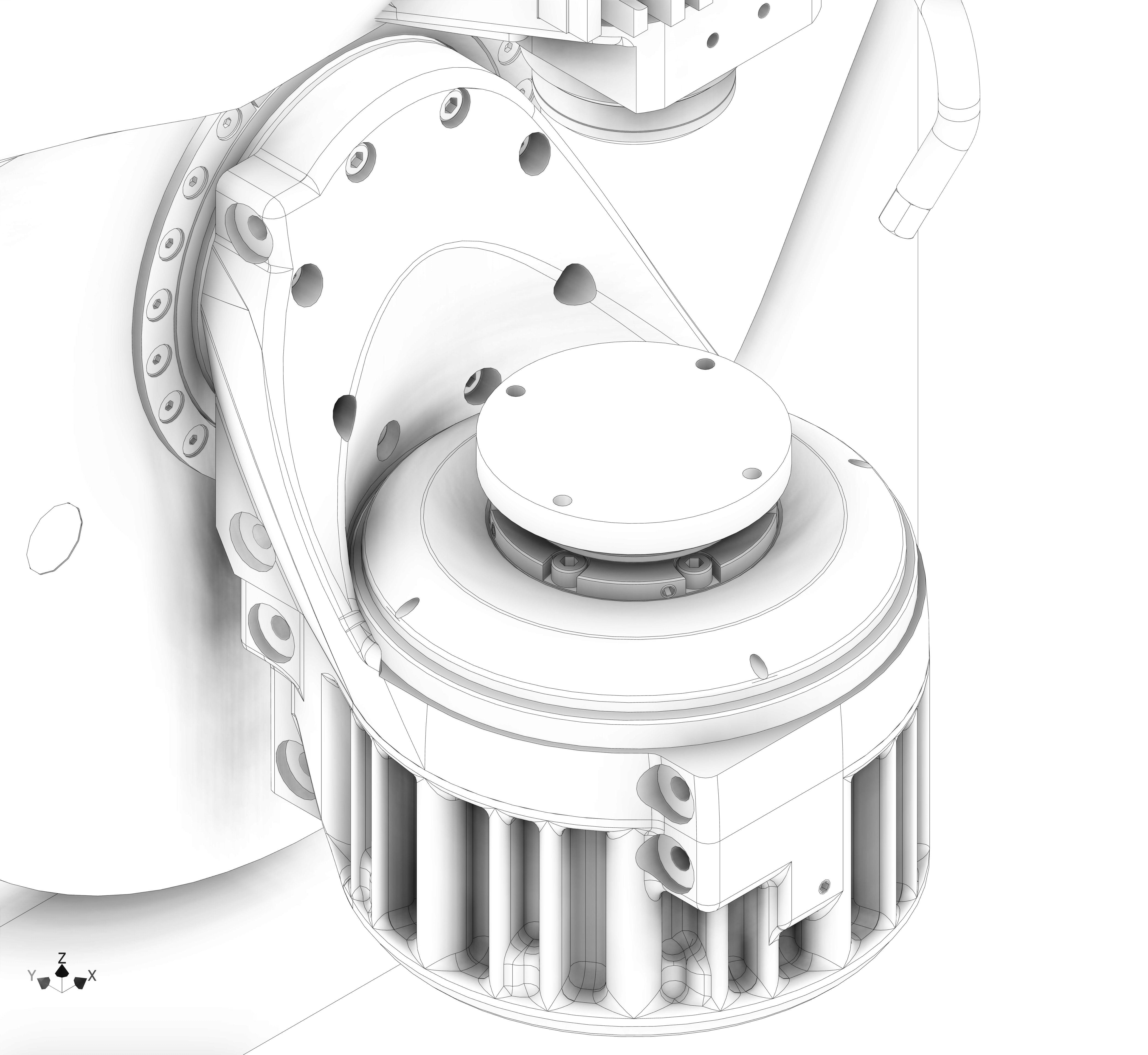 Axes rotatifs de la Micro5 en schéma
